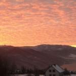O wschodzie słońca- widok z okna