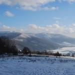 Zimowy krajobraz- widok z okna
