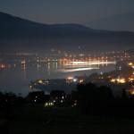 Nocny krajobraz- widok z okna