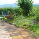 Zejście na taras i ogród